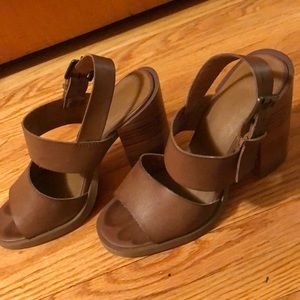 Urban outfitters brown heeled sandals